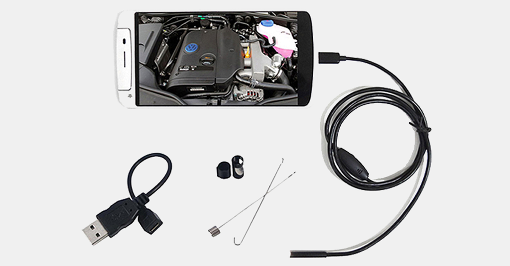 Smartphone Waterproof Endoscope Inspection Camera