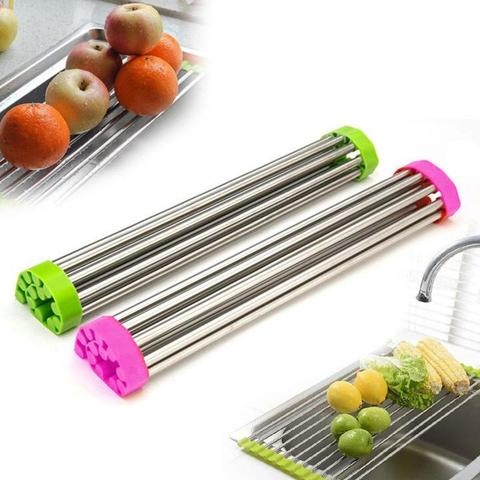Image of Roll Up Silicone Drying Rack