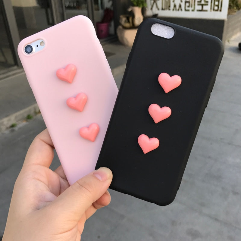 3D love plush super cute soft case for iPhone / Samsung