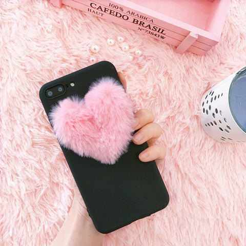 Image of 3D love plush super cute soft case for iPhone / Samsung