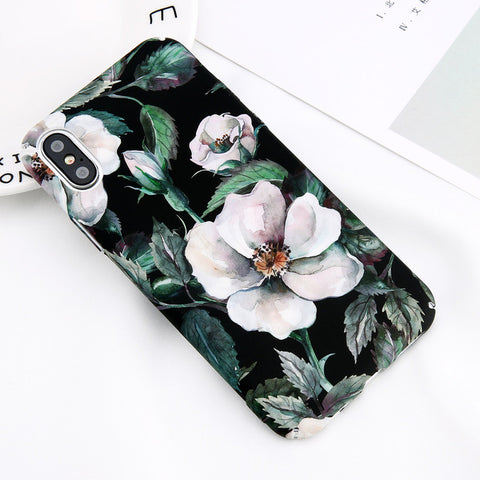 Image of Flower Leaf Marble Case For iPhone & Samsung Galaxy