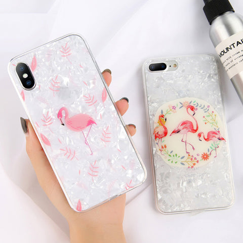 Image of Dream Shell Pattern TPU Acrylic Cases For iPhone & Samsung Galaxy