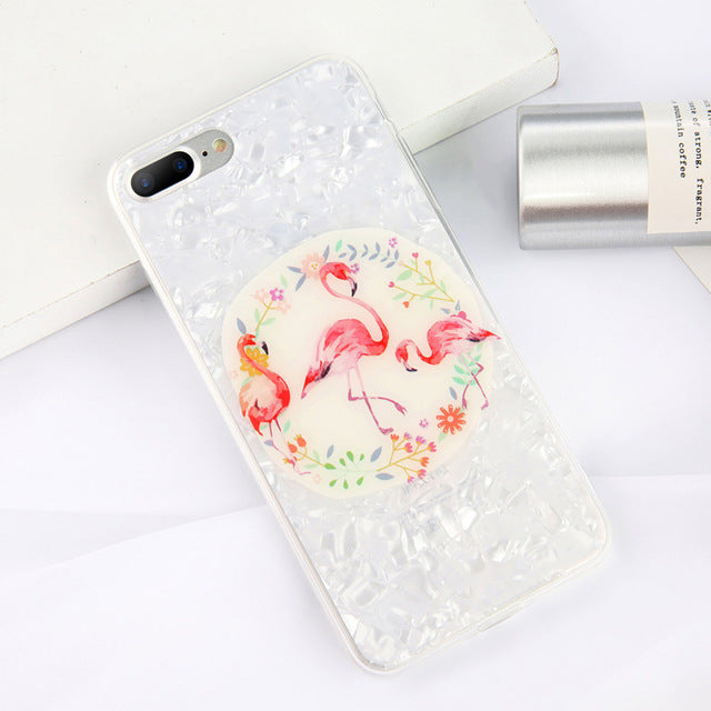 Dream Shell Pattern TPU Acrylic Cases For iPhone & Samsung Galaxy