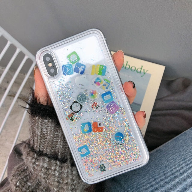 Glitter Liquid Quicksand Cases for iPhone