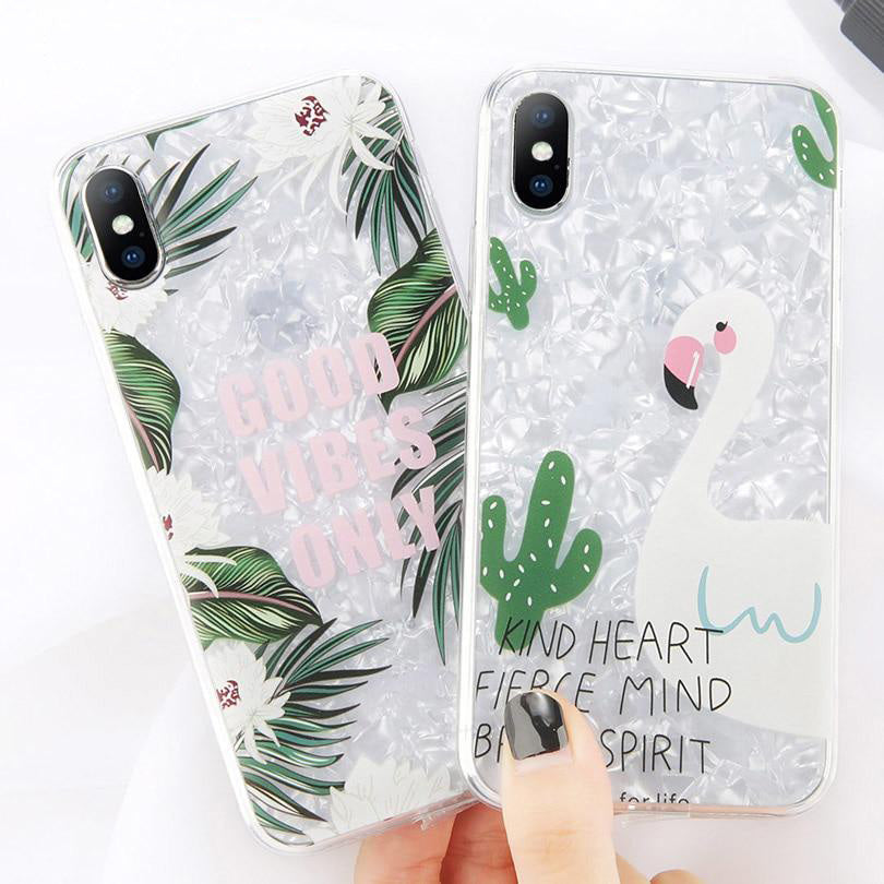 Dream Shell Pattern Soft TPU Case For iPhone & Samsung Galaxy