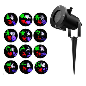 12 Slides Halloween Christmas Star Laser Projector