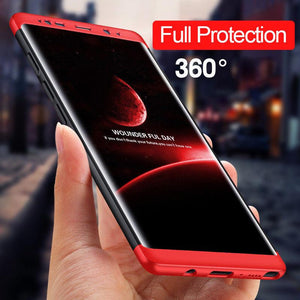 Ultra Slim 360 Degree Protection Hard Case with Tempered glass Screen Protector for Samsung Galaxy