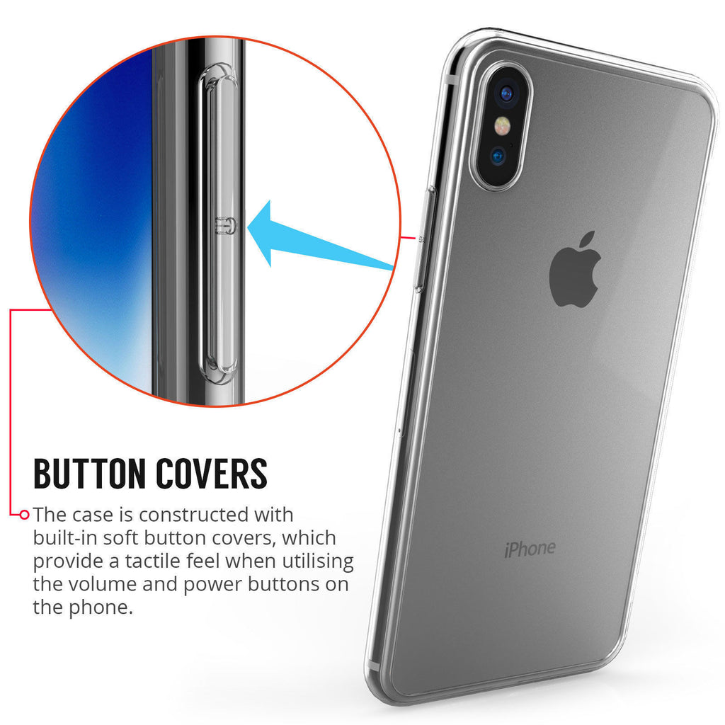 Ultra Thin Clear Gel Case For iPhone