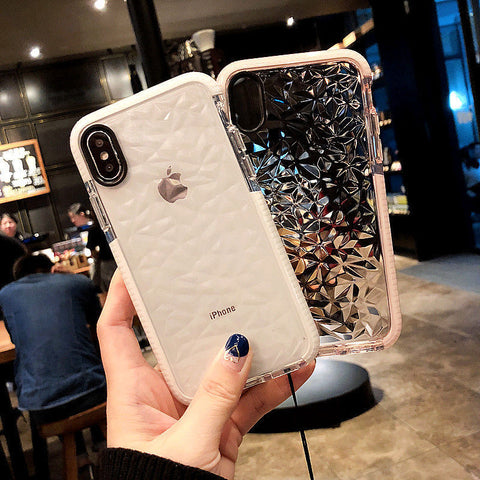 Hybrid Shockproof Diamond Soft Silicone Case Cover For iPhone