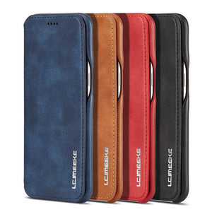 Magnetic Flip Leather Wallet Stand Case Cover For iPhone