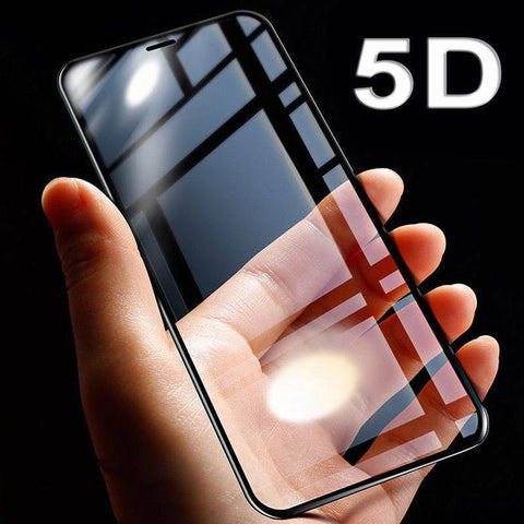 5D Full Cover Edge 9H Tempered Glass For iPhone