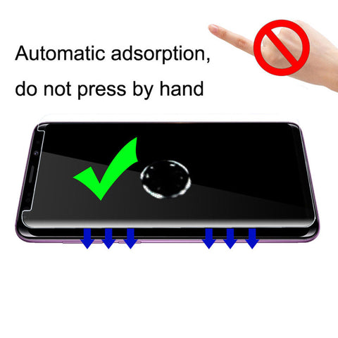 Image of New Technology - Liquid UV 3D Full Coverage Tempered Glass Screen Protector for Samsung