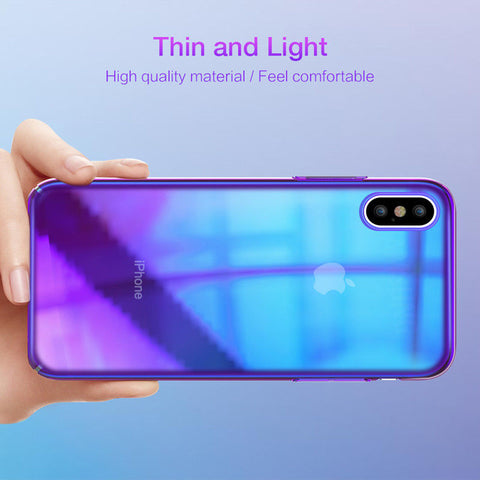Image of Luxury Twilight PC Material Shockproof fingerprint Case For iPhone