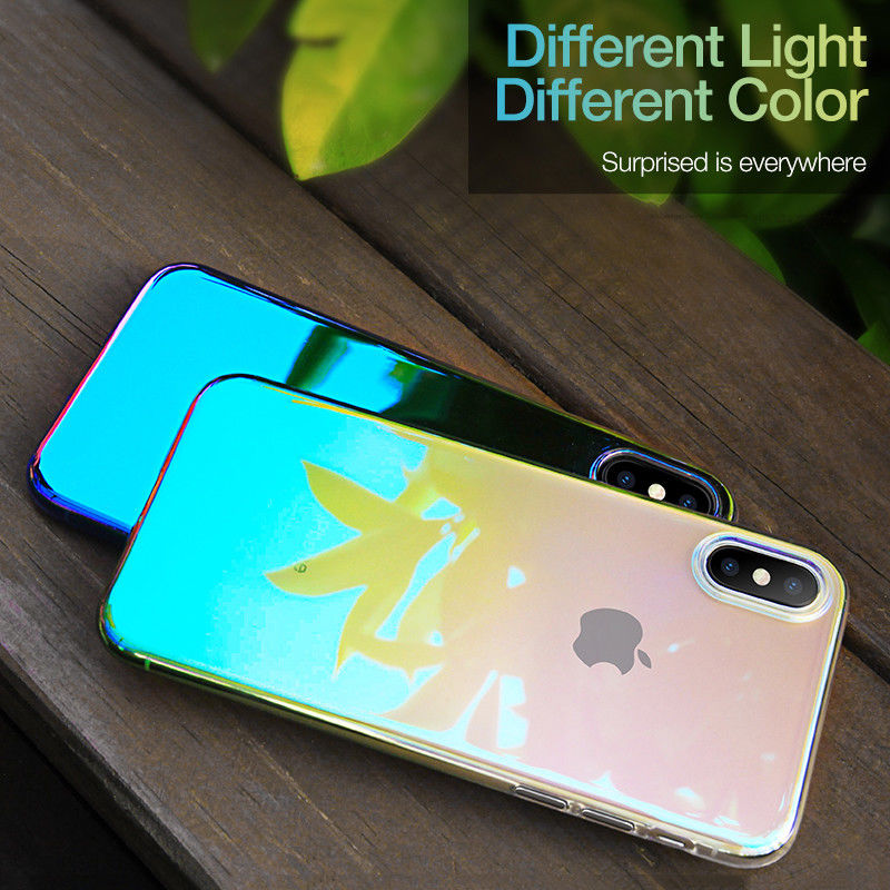 Luxury Twilight PC Material Shockproof fingerprint Case For iPhone
