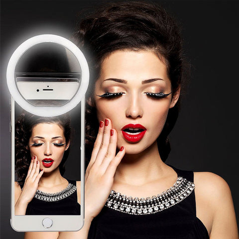 Image of Portable Ring LED Selfie Light For/Work On All Smart Phones