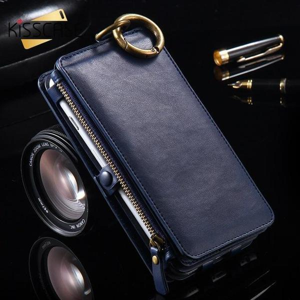 Luxury Retro Leather Wallet Case for iPhone and Samsung Galaxy