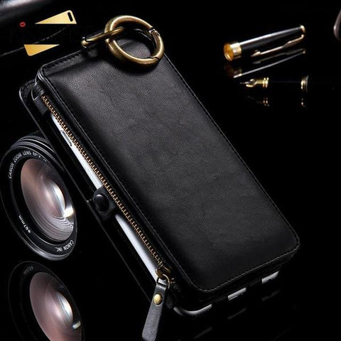 Image of Luxury Retro Leather Wallet Case for iPhone and Samsung Galaxy