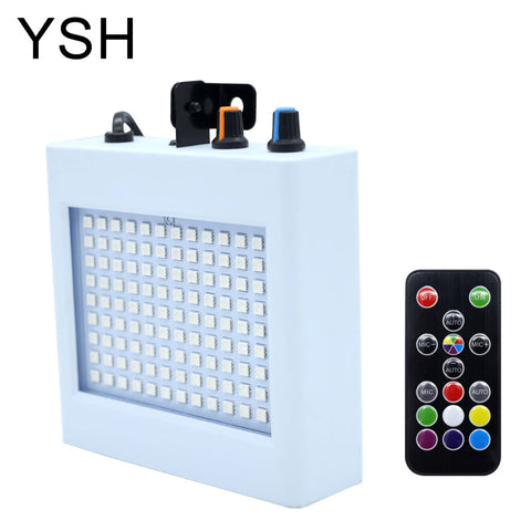 YSH Christmas Lights Indoor 108 LED Holiday Lights Decoration with Sound Activated Strobe Lighting for Festival Wedding Party DJ