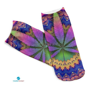 Marijuana Spandex Ankle Socks - Celestial connect