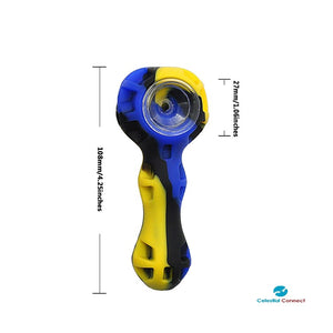 Travel Silicone Pipe w/ Removable Bowl and Cleaning Scoop - Celestial connect