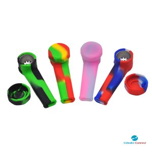 Capped Silicone Travel Pipe - Celestial connect