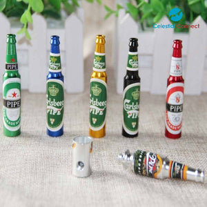 Mini Beer Bottle Pipe - Celestial connect