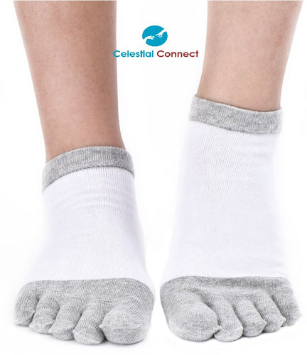 Handmade Anti-Bacterial Hemp Toe Socks - Celestial connect