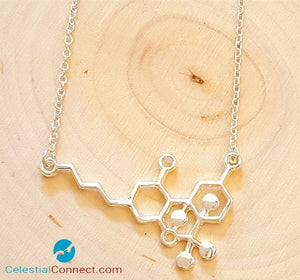 Zinc THC Molecule Necklace - Celestial connect