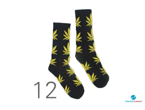 Marijuana Cannabis Knee High Socks - Celestial connect