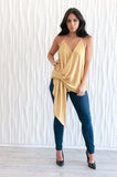 Draped Tie Front Top - NOW AVAILABLE