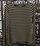 Long Bell Sleeve Striped Top - NOW AVAILABLE