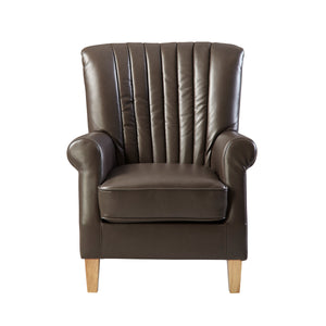Auburn Vegan Leather Sofa Chair