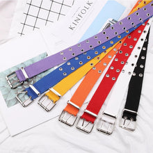 Load image into Gallery viewer, Canvas rivet belt - 7 colours