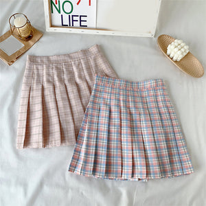 Pastel Pleated Skirt - 6 Colours