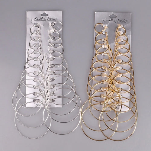 12 pack of earrings - 4 styles