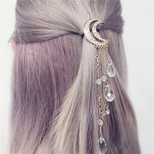 Moon dangle hair clip - 4 colours