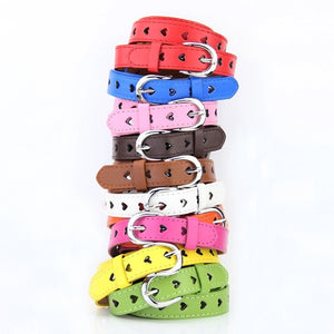 Heart faux leather belt - 8 colours