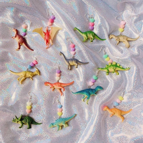 Dinosaur earrings - 12 styles