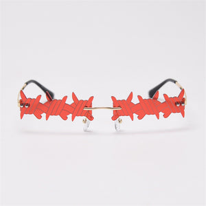 Barbed Wire Glasses - 6 Colours
