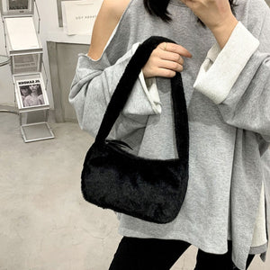 Fluffy Baguette Bag - 4 Colours