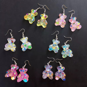 Teddy bear earrings - 6 colours