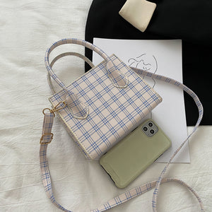Plaid Cross Body Bag - 4 Colours