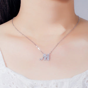 Rhinestone custom letter necklace