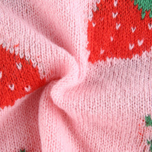 Load image into Gallery viewer, Strawberry knitted crop vest