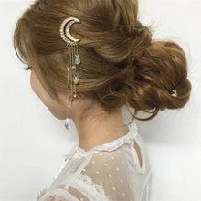 Load image into Gallery viewer, Moon dangle hair clip - 4 colours