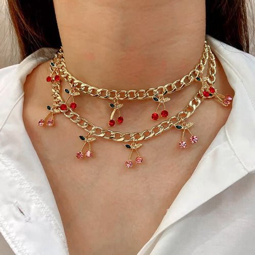 Cherry choker - 4 colours