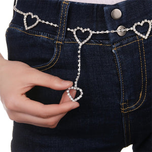 Rhinestone chain belt - 6 options