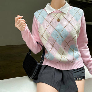 'Emily' Argyle Knit Sweater