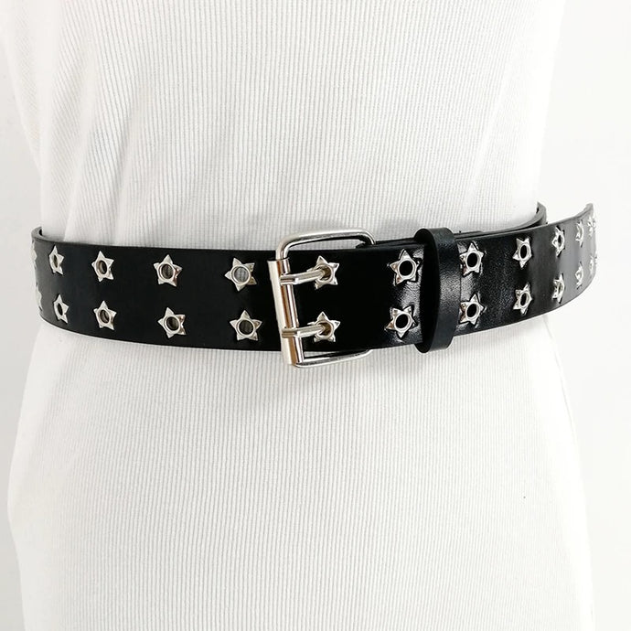 Star Eyelet Belt - 2 Colours