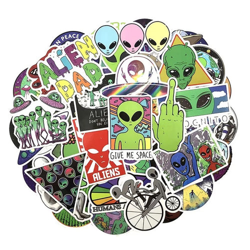 Alien stickers - 50 pieces